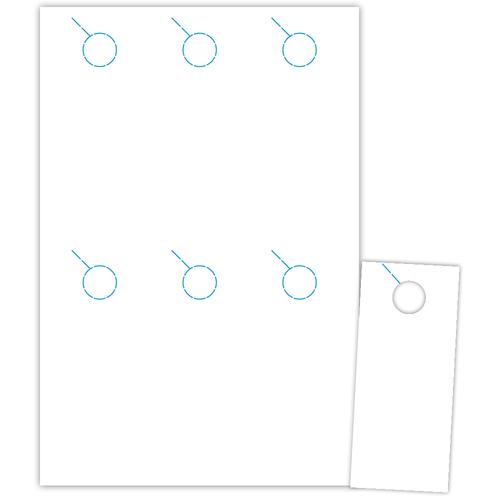 """3.5"""" x 8.5"""" Door Hanger on 12"""" x 18"""", White 7 Mil Polyester, 600/pack"""
