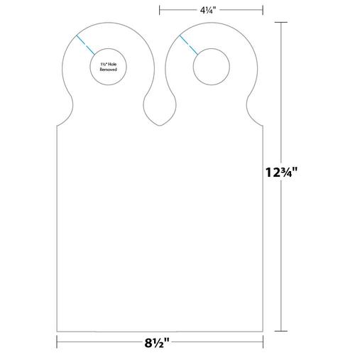 """4.25"""" x 12.75"""" Door Hanger on 8.5"""" x 12.75"""", 65 Lb. TimberLine Cover, 500/pack"""