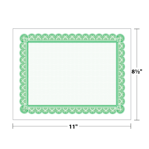 "8.5"" x 11"" Certificate with Border on 8.5"" x 11"", 60 Lb. Offset, 50/pack"