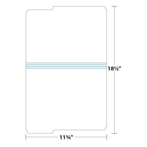 "9.5"" x 11"" File Folder on 11.75"" x 18.5"", 125 Lb. Tag Stock, 250/pack"
