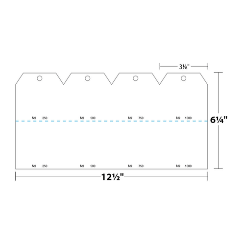 """3.125"""" x 6.25"""" Tag Numbered 01-1000 with Hole Removed on 6.25"""" x 12.5"""", 67 Lb. Bristol Cover, 1000/pack"""