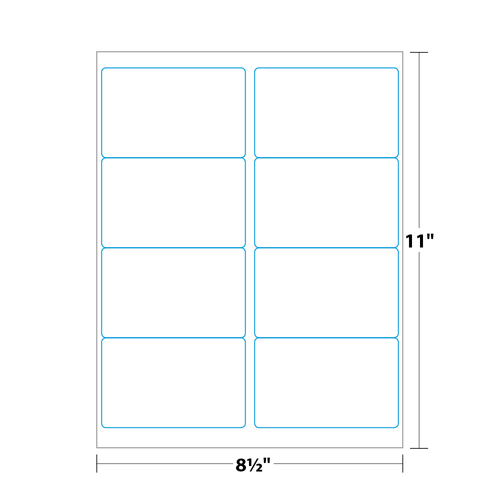 """4"""" x 2.5"""" Shipping Label on 8.5"""" x 11"""", White 120 Lb. Matte, 800 Labels/pack"""