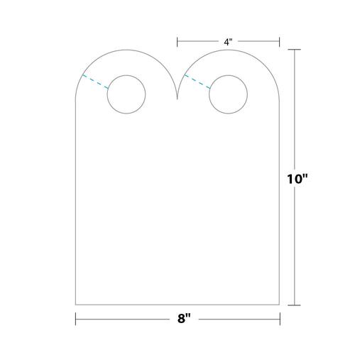 "4"" x 10"" Door Hanger on 8"" x 10"", 80 Lb. Smooth Cover, 500/pack"