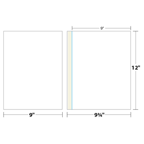 "9"" x 12"" One Pocket Presentation Folder on 9"" x 12"", 80 Lb. Smooth Cover, 100 Folders/pack"