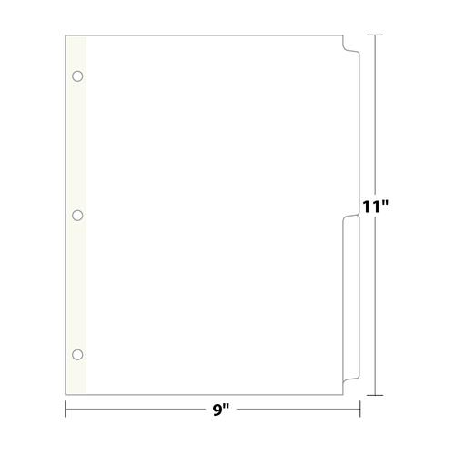 2-Bank Copytabs Tab Dividers, White 110 Lb. Index, 625 sets/pack