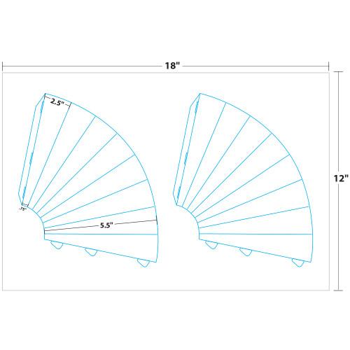"8"" x 6.25"" Lift Off™ Miniphone on 12"" x 18"", White 14 Pt. Invercote, 100 Miniphones/Pack"