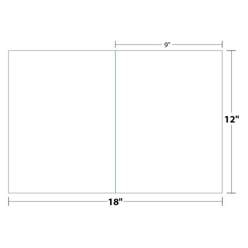 """9"""" x 12"""" Presentation Folder on 12"""" x 18"""", White 12 Pt. Cast Coat, 100 Folders/pack"""