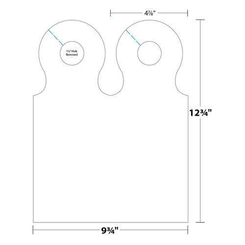 "4.875"" x 12.75"" Door Hanger on 9.75"" x 12.75"", 80 Lb. Smooth Cover, 500/pack"