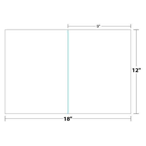 "9"" x 12"" One Pocket Presentation Folder on 12"" x 18"", 80 Lb. Smooth Cover, 250 Folders/pack"