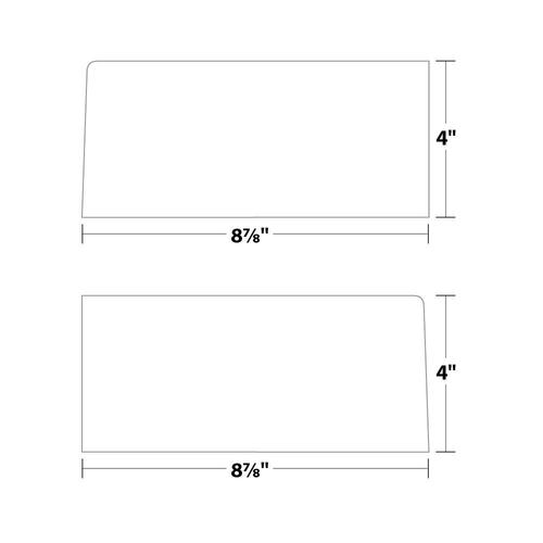 """8.875"""" x 4"""" Folder Pocket Sets, 10 Pt. Cast Coat, 100 Sets/pack"""