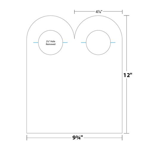 "4.875"" x 12"" Door Hanger on 9.75"" x 12"", 80 Lb. Smooth Cover, 500/pack"