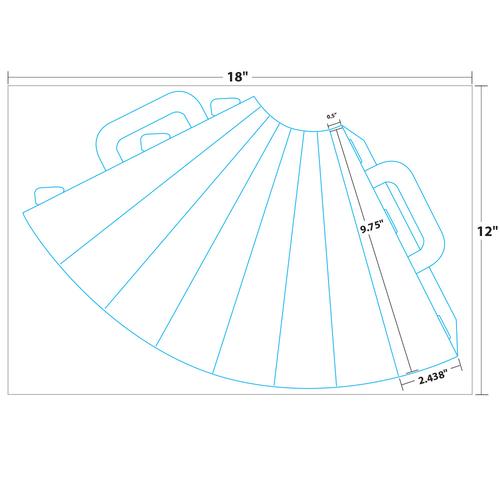 """9.75"""" x 7.5"""" Lift Off™ Megaphone on 12"""" x 18"""", White 100 Lb. Vellum, 50 Megaphones/Pack"""