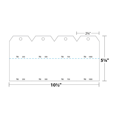 """2.625"""" x 5.25"""" Tag Numbered 01-1000 with Hole Removed on 5.25"""" x 10.5"""", 140 Lb. Index, 1000/pack"""
