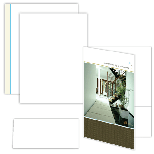 "9"" x 12"" One Pocket Presentation Folder on 9"" x 12"", 80 Lb. Smooth Cover, 50 Folders/pack"