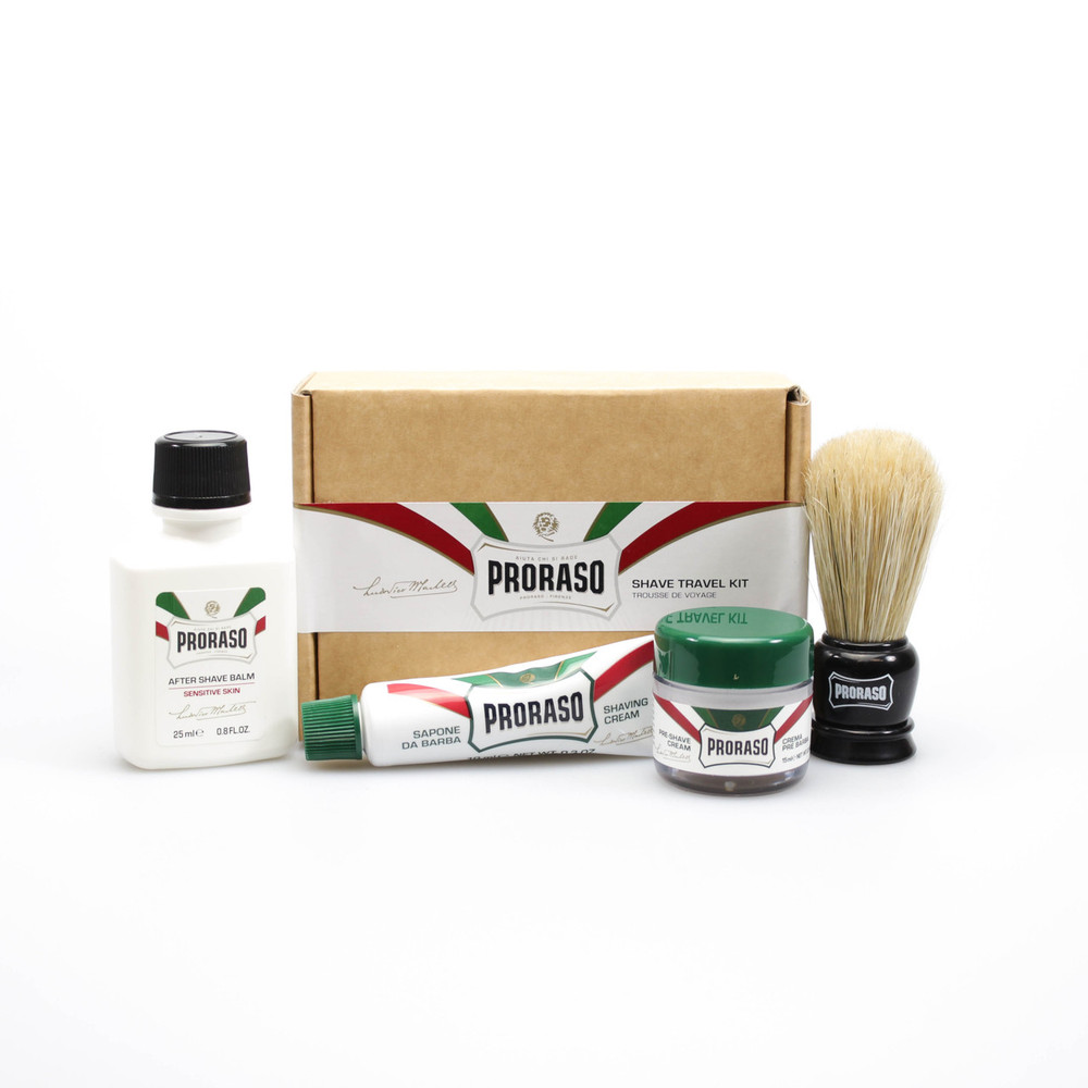 proraso travel shave kit apothecary4men. Black Bedroom Furniture Sets. Home Design Ideas