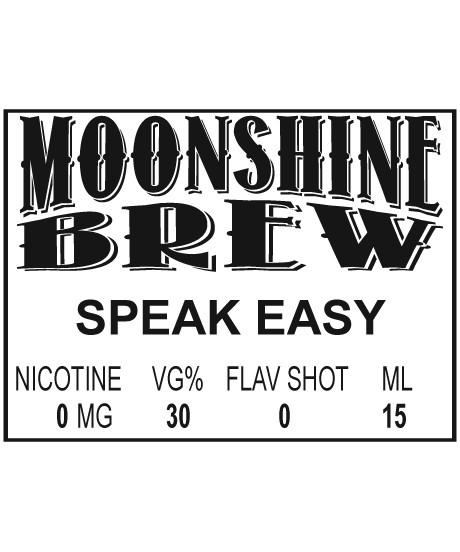 MOONSHINE BREW SPEAK EASY - E-Juice - E-Liquid - Electronic Cigarettes - ECig - Vape - Vapor - Vaping - Pickering - Ajax - Whitby - Oshawa - Toronto - Ontario - Canada