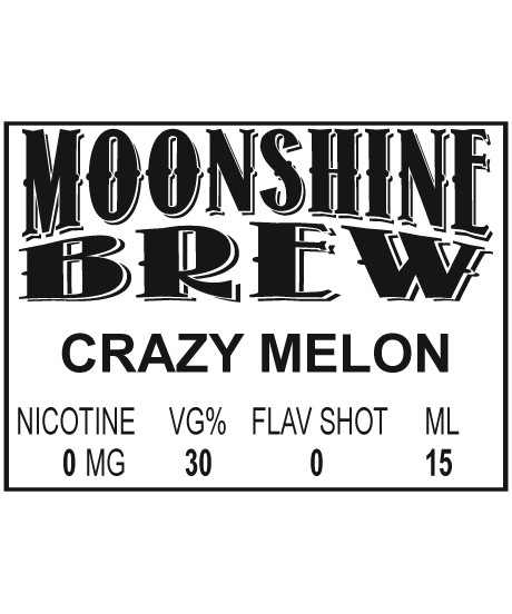 MOONSHINE BREW CRAZY MELON - E-Juice - E-Liquid - Electronic Cigarettes - ECig - Ejuice - Eliquid - Vape - Vapor - Vaping - Pickering - Ajax - Whitby - Oshawa - Toronto - Ontario - Canada