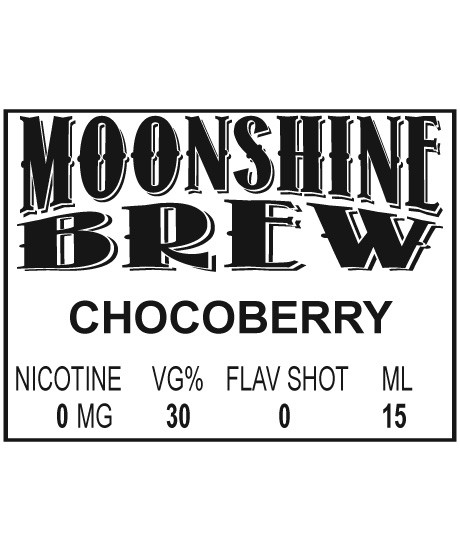 MOONSHINE BREW CHOCOBERRY - E-Juice - E-Liquid - Electronic Cigarettes - ECig - Ejuice - Eliquid - Vape - Vapor - Vaping - Pickering - Ajax - Whitby - Oshawa - Toronto - Ontario – Canada