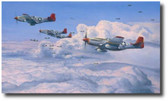 Fighting Red Tails Aviation Art