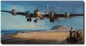 IWO JIMA: A HARD WON HAVEN  By John Shaw  Aviation Art