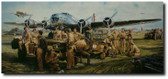THEY FOUGHT WITH WHAT THEY HAD By John Shaw Aviation Art
