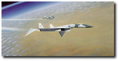 Dance of the Valkyrie by Mike Machat. An XB-70 with a B-58 chase. Aviation Art