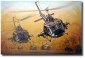 Guns Up by Joe Kline - UH-1C Huey Gunship