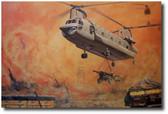 Iron Dance by Joe Kline - CH-47 Chinook Aviation Art
