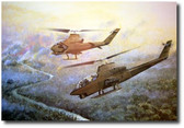 Chariots of Fire by Joe Kline - AH-1G Cobra Gunships