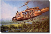 Magic Carpet Ride by Joe Kline - UH-1C Huey Aviation Art