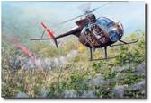 "Eye of the Tiger by Joe Kline - OH-6A ""Loach"" Aviation Art"