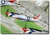 1947 Thunderbird by Don Feight - P-51 Mustang