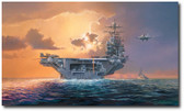 Dawn Operations, Abraham Lincoln Style by Rick Herter - F-14 Tomcat