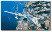 Ground Zero, Eagles on Station - 9-11-2001 by Rick Herter - McDonnell Douglas F-15 Eagle Aviation Art
