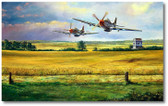 Hurryin' Home Horses by Rick Herter - P-51 Mustang