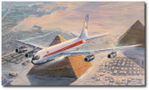 Turning Final for Cairo by Rick Herter - TWA Boeing 707