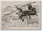 Evil Empire Chinook by Bryan David Snuffer - MH-47G Aviation Art