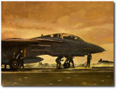 Indian Ocean Sunrise by Bryan David Snuffer -  F-14A Tomcat