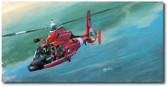 Morning Stroll by Bryan David Snuffer - MH-65 Dolphin Aviation Art