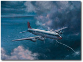 Northwest Flight 2501 by Bryan David Snuffer - Douglas DC-4 Aviation Art