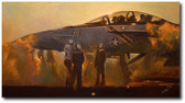 The Smell of Steam at Dusk by Bryan David Snuffer - FA-18F Super Hornet Aviation Art