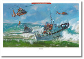 Surf Operations by Bryan David Snuffer -  MH-65 Dolphin Aviation Art