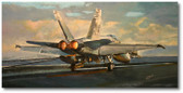 Trapped Hornet by Bryan David Snuffer Aviation Art