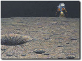 Armstrong Heads Beyond the Boulders by Alan Bean