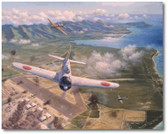 Hickham Field - Second Attack by Jim Laurier -  Mitsubishi A6M Zero - Aviation Art
