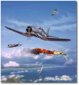 Pappy Boyington by Jim Laurier