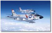 Topgun Demon Drivers by Mark Karvon - Vought F-8 Crusader Aviation Art