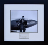 Chuck Yeager with X-1 Glamorous Glennis (Signed)