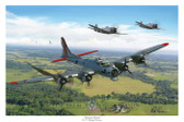 Almost Home by Mark Karvon - B-17 Flying Fortress