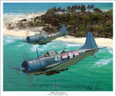 SBD Dauntless by Mark Karvon - Douglas SBD Dauntless